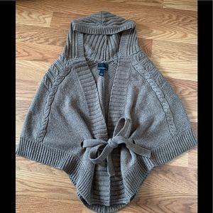 Cynthia Rocket Hooded Poncho Sweater